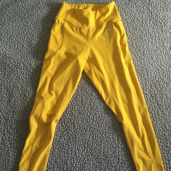 28806108078a26 Gymshark Pants - Gymshark Dreamy Leggings 2.0 - Citrus Yellow